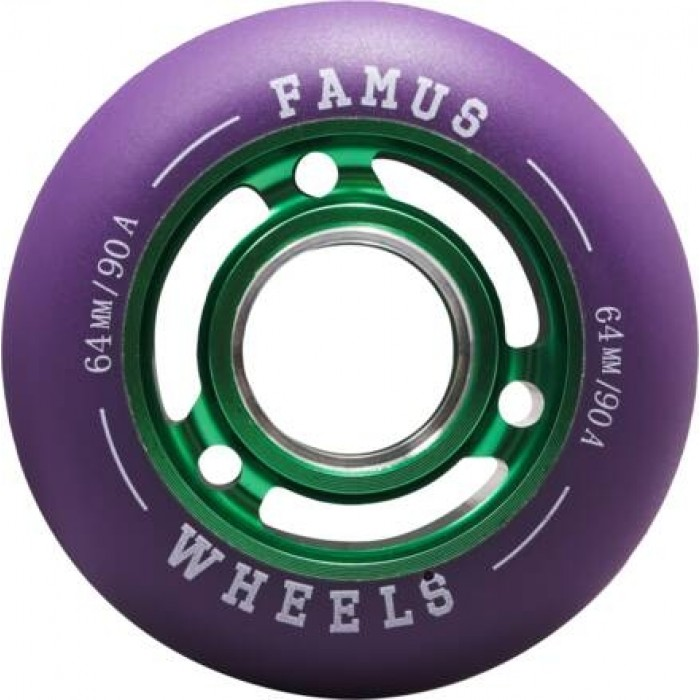 Famus64mmAggressiveInlineHjulGrn90A-31