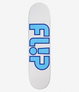 Flip Team Outlined White Skateboard Deck