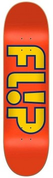 Flip Team Outlined Orange Skateboard Deck