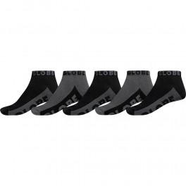 Globe Black/Grey Ankle Sock 5-pack