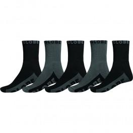 Globe Black/Grey Crew Sock 5-pack