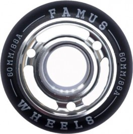 Famus 60mm Aggressive Inline Hjul Sølv 88A