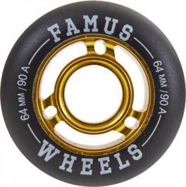 Famus 64mm Aggressive Inline Hjul guld 90A