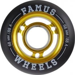 Famus 68mm Aggressive Inline Hjul Guld - 88A