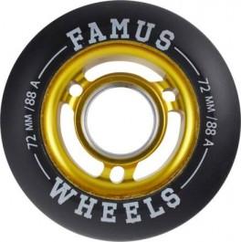 Famus 72mm Aggressive Inline Hjul Guld 88A