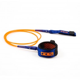 FCS 7' All Round Essential Leash Blood Orange/Navy