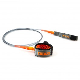 FCS 7' All Round Essential Leash Charcoal/Blood Orange