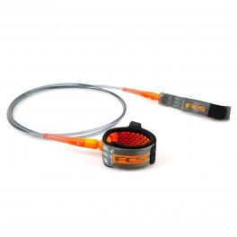 FCS 9' All Round Essential Leash Charcoal/Blood Orange