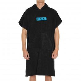 FCS Junior Towel Poncho Black