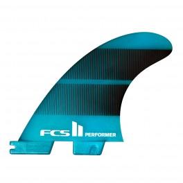 FCS II Performer Neo Glass Teal Gradient Tri Fins
