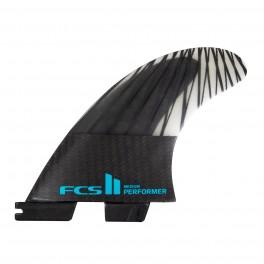 FCS II Performer PC Carbon Black/Teal Tri Retail Fins