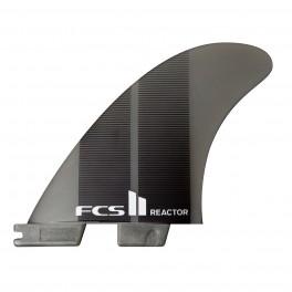 FCS II Reactor Neo Glass Charcoal Gradient Tri Fins