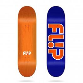 Flip Team Outlined Blue Skateboard Deck