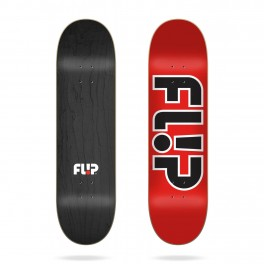 Flip Team Outlined Red Skateboard Deck