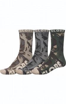 Globe Eco Camo Crew Sock 3-pack