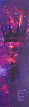 Longway Printed Griptape Løbehjul Skull King - Purple
