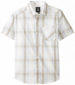 Volcom Boys Everett plaid SS