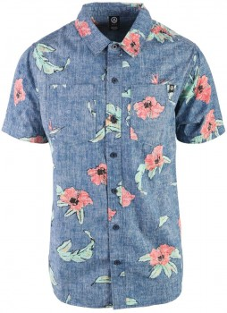 NEFF Floral Push Button Up