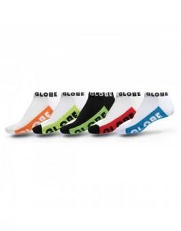Globe Multi Brights Ankle Sock 5-pack
