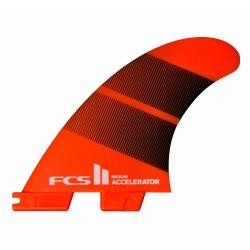 FCS II Accelerator Neo Glass Tang Gradient Tri Fins